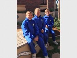HOCKEY STARS: Sheldon Spear, Daniella de Agrela and Sebastian Watson, from Waterstone College, will represent Gauteng at the Curro Nationals for hockey.