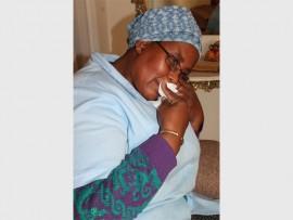BAIE ONTSTELD: Elizabeth Myinde is baie ontsteld oor die diens wat haar man gekry het.