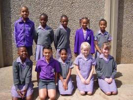 GRADE 2: Front: Lehlomela Tenyane, Elisha Wynne, Tahira Hussain, Yelena Keyser and Farren Pieterse. Back: Lwanda Hoyo, Eva Kapunda, Swazi Motsoane, Imani Tshabangu and Bokamoso Masebelanga.
