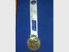 JUST REWARD: One of the medals given to participants.