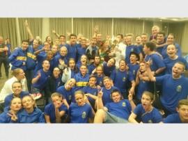 STERRE: Die groep van die Hoërskool Marais Viljoen wat onder die semi-finaliste vir Revue 2016 is.