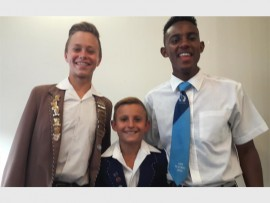 TALENTED TRIO: From left to right: Danie Smit, Carl Janse van Rensburg and Tristan Quinn.