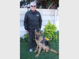 LOVE: Marlene with her guide dog, Phorest.