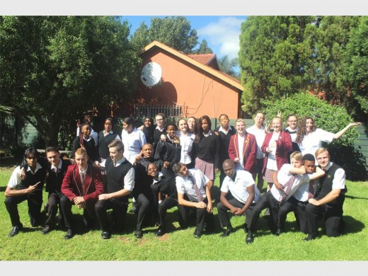 MATRICS FOR 2017: The matrics at Impact Independent High School being silly.