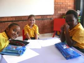 THREE'S A PARTY: Entle Ranyane (left), Izabella Ferreira and Kamogelo Thugwama.
