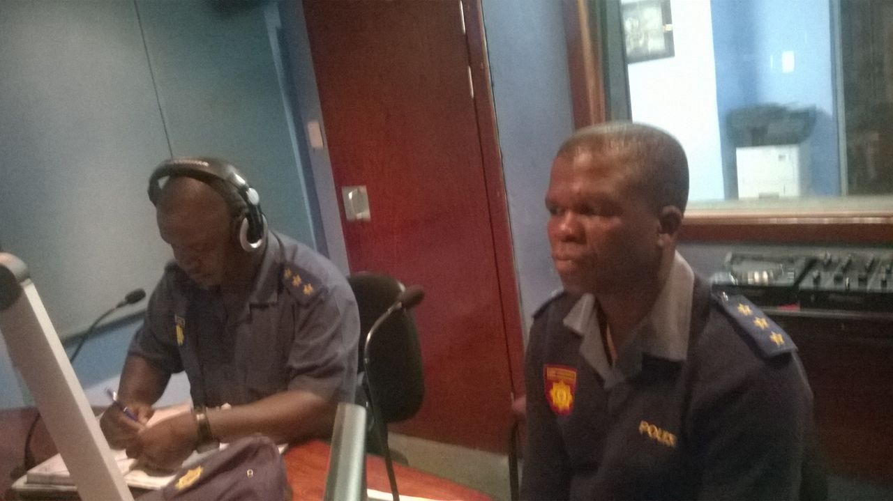Capt Manare Ramotshela and Mega Ndobe in Kasie FM studio