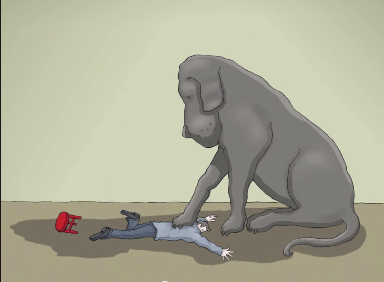 Photos Of Depresion Black Dog
