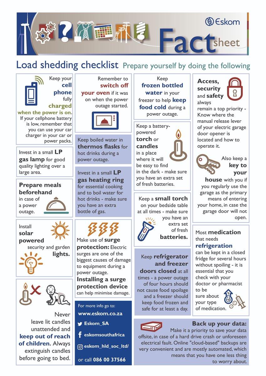 Loadshedding has been downgraded to Stage 2   Mpumalanga News