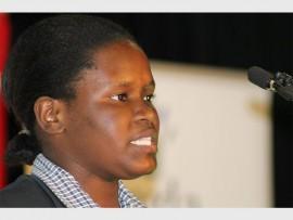RECIPIENT: Ayanda Ndlazi, My Future My Career programme beneficiary.
