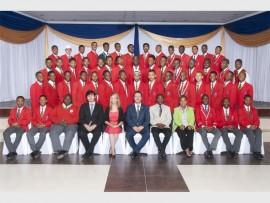 HARD WORK: The 2015 class of Horizon High School.