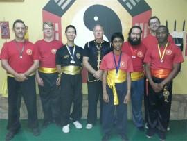 INTER-SCHOOL CHAMPS:The Kung Fu winners are:  JP Niehaus, Jason Chretien, Warren Chong, sifu Mark van den Berg, Mohammad  Nabeel  Ismail, Sebastião Rodrigo, Ethon Moller and Thato Tabudi.