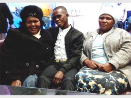 FUN AT THE MOVIES: Philani Twala (middle) at the movies with his mother, Beatrice Twala (left), and her friend, Thandi Mhlongo.