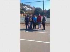 LEARN HOW TO COACH: The coaches are: Tshepiso Phahlane,Theo Khambula,Sandile Zuma and Sopho Mzoto with Carol White (middle).