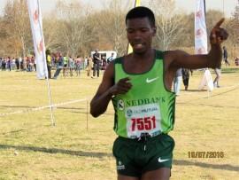TOP RUNNER: Namakwa Nkhasi finishing first in the men's category. Photo: Provided.