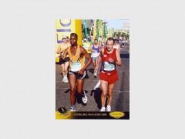 RUNNING: Thulane Shali Sithole in the 2005 Comrades Marathon.