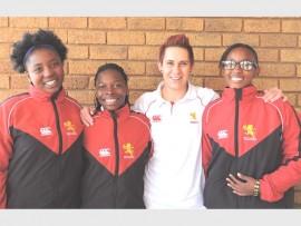 UNDER 16: Tshedza Netshienodeulu, Andani Nemangaya, Mickey Oosthuizen (coach) and Kefentse Molubi.