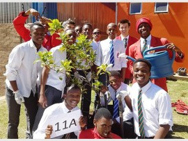 ARBOR DAY: Learners at Horizon High School planted trees in the month of September.