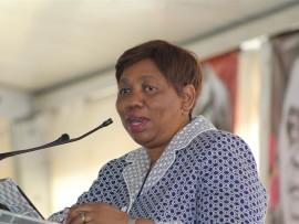Minister of Education Angie Motshekga. *Photo by Lucky Thusi.