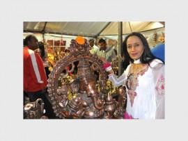 BEAUTIFUL: Pauline Naidoo, president of the Hindu Maha Sabha (Gauteng Region), was present at this year's Gauteng Diwali Festival at Gold Reef City.