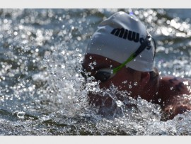 SPLASHING SEASON START:Swimmers enjoyed the Dis-Chem open water swim over the various distances. Photo: Annette van Schalkwyk