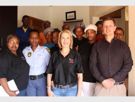 METER EMPOWERMENT: Sergeant Shirley Gqoba from Mondeor SAPS, Sarah Wissler (ward 23) and Michael Crichton (ward 56), are standing in front at the recent community awareness training.