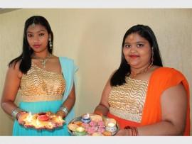FESTIVAL OF LIGHTS: Ekta Naicker and Drishti Naicker lit their diyas to celebrate the festival of light.