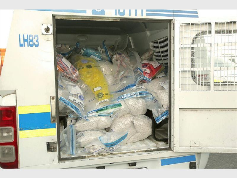 CONFISCATED: Loads of Madrax confiscated in Cape Town recently. Photo by Intelligence Bureau SA