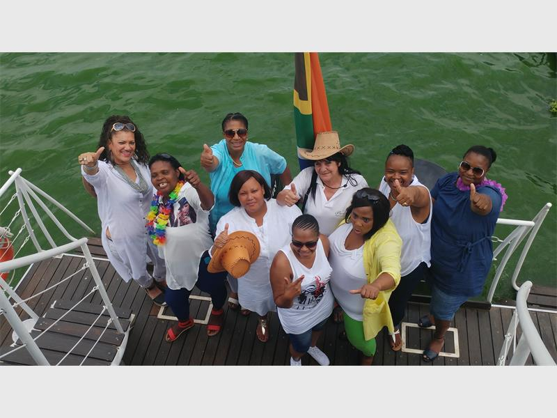 EXCITING: Ward 57's women's committee having a wonderful during a team building experience at Hartebeespoort Dam. The committee is made up of women from City Deep Hostels, South Hills, Elandspark, Regents Park and ward 57's Clr Faeeza Chame.