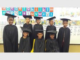 WELL DONE: A few of the children who graduated (front): Ashana Govender, Phano Makoti and Tumelo Tlebjane. Standing: Mvelo Zandamela, Diego Noah, Owami Hadebe, Junior Shabalala and Masoga Maupye.