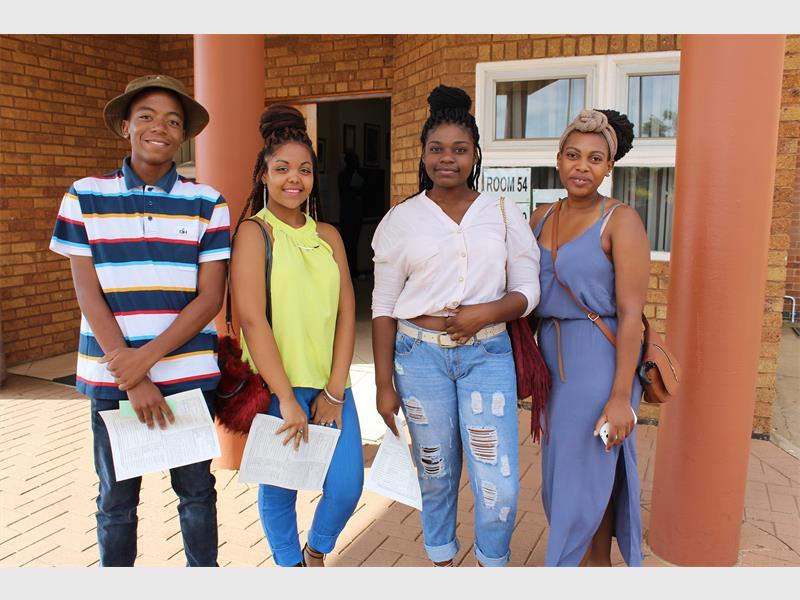 SIR JOHN ADAMSON: Simphiwe Nyovane, Jodilee Ferreira, Miraldina Cangoma and Hangwani Masikhwa want to become lawyers and accountants.