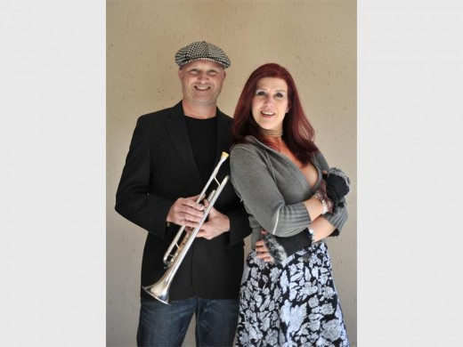 GOOD VIBES: Jevon O'Donovan and Carolyn Gregorowski.