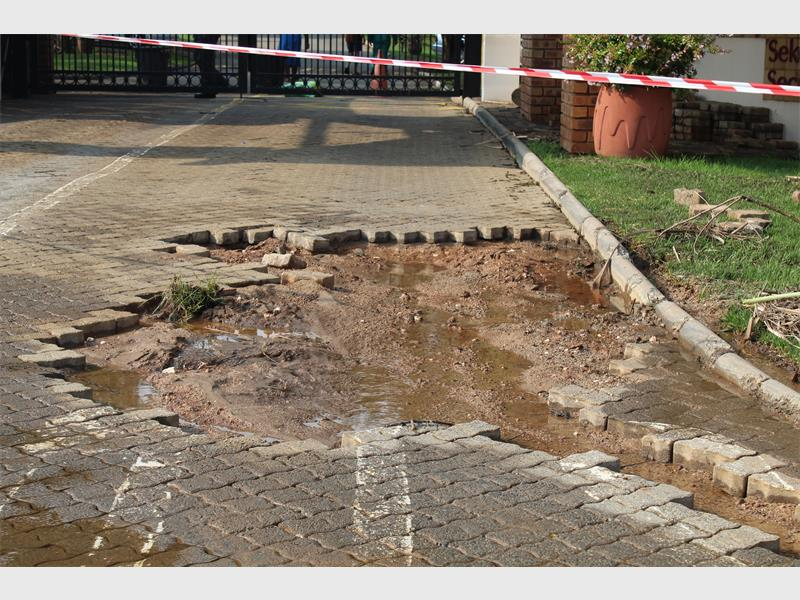 Flash flood caused damage in the South of Johannesburg