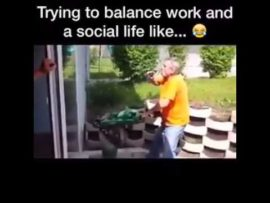 Trying to balance work and social life