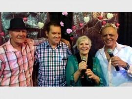 HONOURED: Buddy Vaughn, Corrie Visagie, Sally Vaughn and fund-raiser organiser, Tommy Gloss.