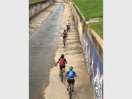 CANAL: Cyclists take on a mountain bike adventure.