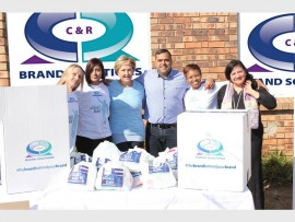HELPING: Lizelle Mc Mahon (C&R marketing manager), Jessica Chinsamy (C&R human resources officer), Michelle Ferreira (Joshua House founder), Costa Kondylis (C&R CEO), Lydia Mbatha (C&R marketing assistant) and Melinda Karam (Joshua House founder).