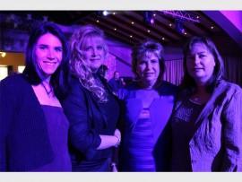 GORGEOUS: Annelie Bezuidenhout, Teresa Scholtemeyer, Elsabe' Ferreira and Kim Jardine.