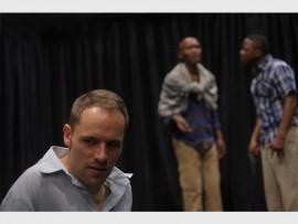 ACTION: Christiaan Schoombie (local Alberton actor), Mpho Osei Tutu and Warren Masemola during the show.