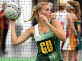 Elizabeth Richter was selected for the SA indoor women's netball team, but unfortunately cannot play this year.