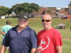 Luis and Rei Dias support Amanzimtoti High School as they take on New Forest High in hockey and rugby on Saturday, 16 April.