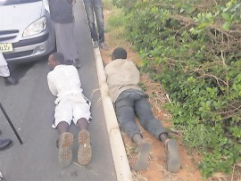 The two suspected thieves were apprehended by Isipingo Beach CPF and community members on Thursday afternoon, 12 August.