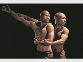 Monday 13th July 2015. National Arts Festival,  Alec Mullins Hall, Rhodes University, Grahamstown, Eastern Cape,  South Africa. NATIONAL ARTS FESTIVAL 2015! MOVING INTO DANCE MOPHATONG'S SCHOOL PROGRAMME! Moving Into Dance Mophatong performs their school programme that includes this dance duet.  A series of images taken of various artistic, dance and theatre performance pieces and exhibited installations done by a host of artists, dancers and performers amongst others during the National Art