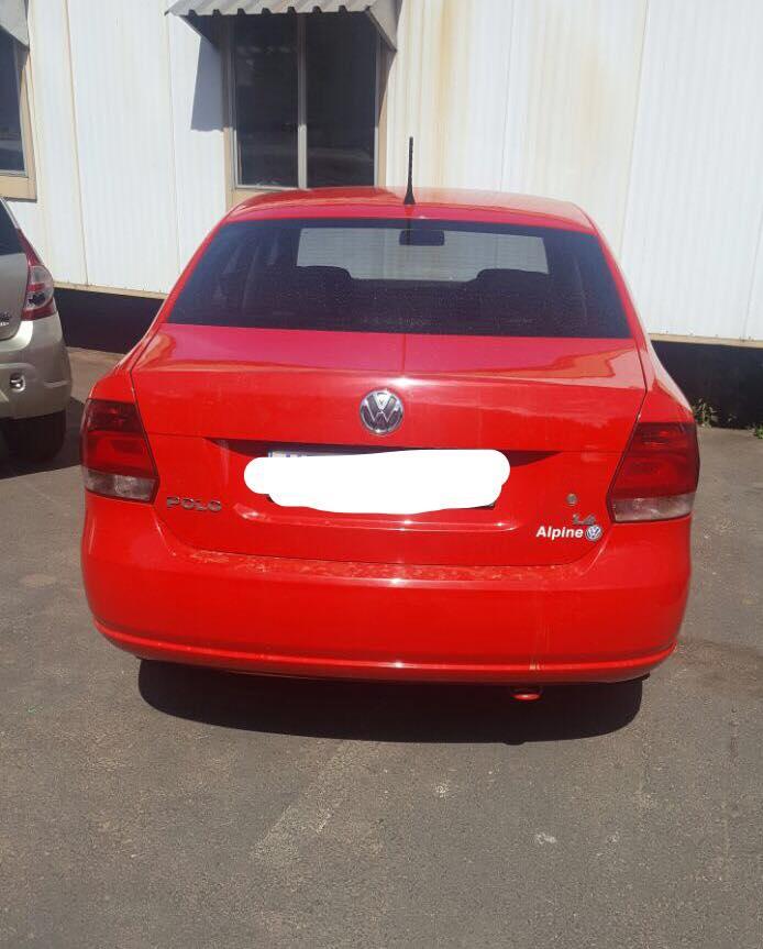 The red VW Polo. PHOTO: CCPO