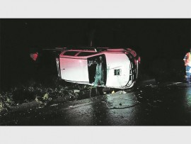 The abandoned vehicle that was involved in an accident on the N2 south on Twini Hill in the early hours of Saturday morning, 7 January.