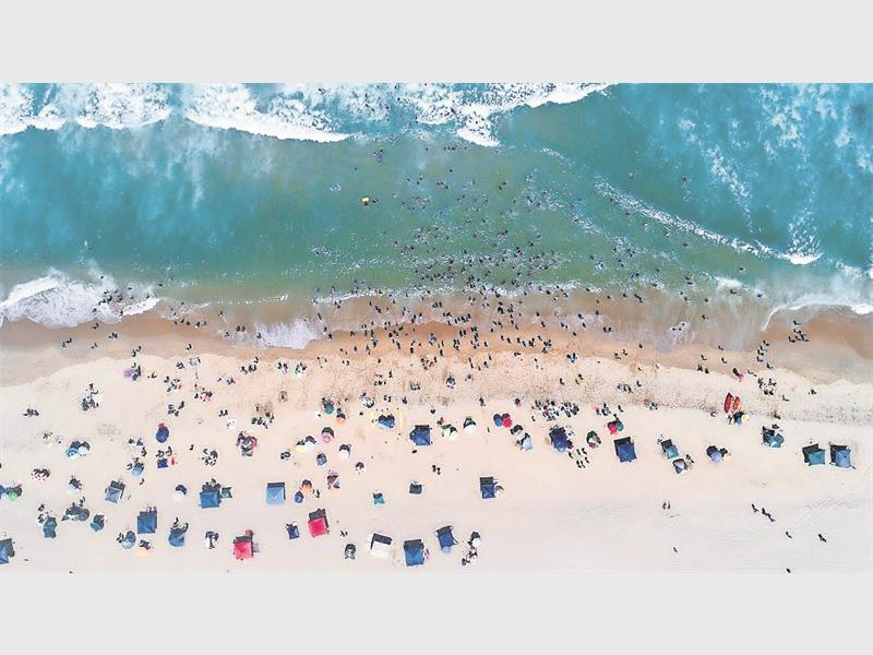 A view from the top of Baggies beach, with the use of a local photographer's drone. PHOTO: Daniel Dedekind