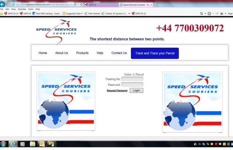 Fake speed services website