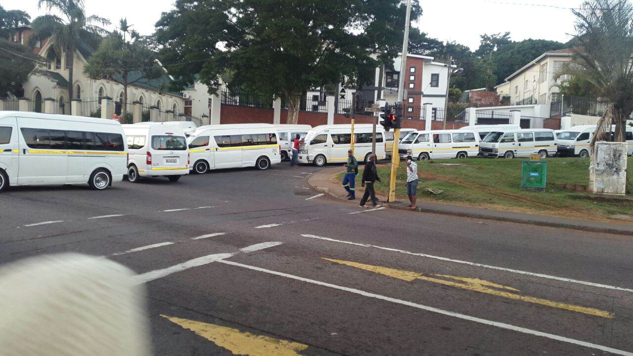 Some Taxis Begin to Operate After Durban Blockade