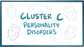 Cluster C personality disorders (avoidant, obsessive-compulsive, dependent)