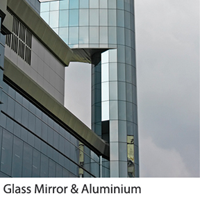 Glass Mirror & Aluminium