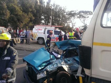 Woman dies as truck ploughs into car   Southlands Sun